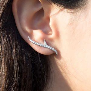 NIB Touchstone Crystal Swarovski 'Coral' Earrings